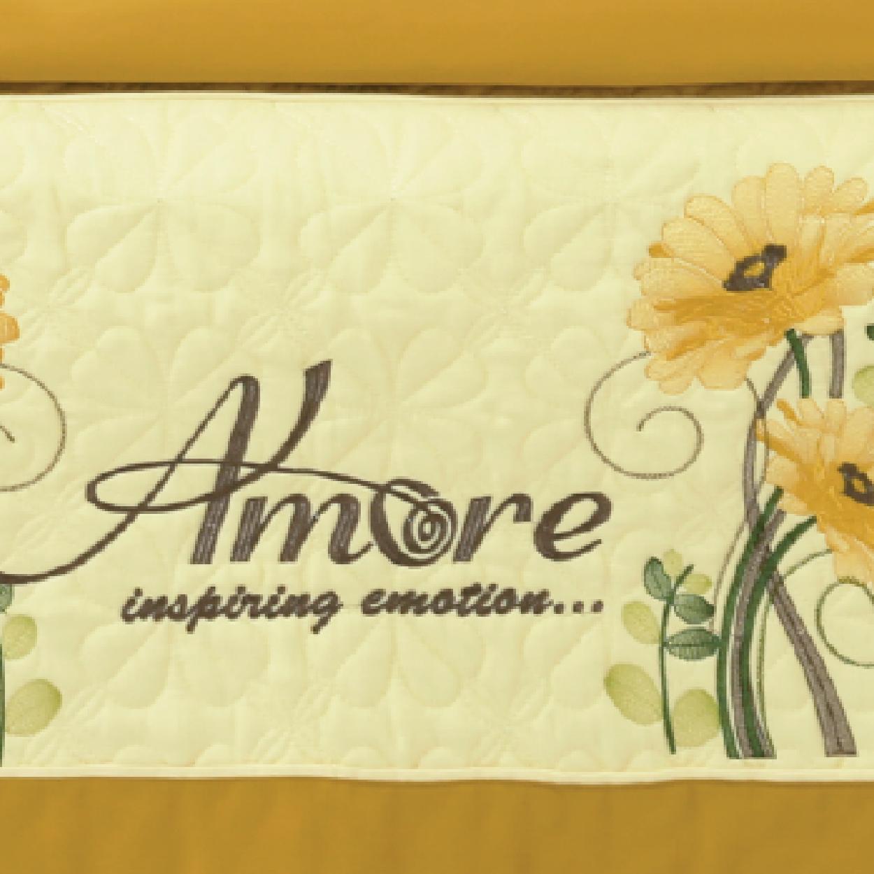 AMS – 8402B Bộ Chăn ga bèo Amore Cotton Satin